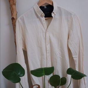 [Zara] Cream, Super Soft Slim Fit Shirt